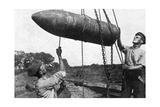 Large Shell on its Way to the Front, First World War, 1914-1916 Giclee Print
