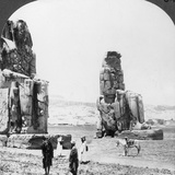 Colossal 'Memnon' Statues at Thebes, Egypt, 1905 Photographic Print by  Underwood & Underwood