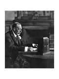 King George V Broadcasting to the Empire on Christmas Day, Sandringham, 1935 Giclee Print