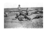 British Army C Company Cooking, Mesopotamia, Wwi, 1918 Giclee Print