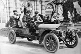 King Alfonso XIII in a Hispano-Suiza Car, Palace of La Granja, Segovia, Spain, C1907 Photographic Print