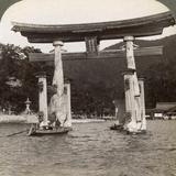 Sacred Torii Gate Rising from the Sea, Itsukushima Shrine, Miyajima Island, Japan, 1904 Photographic Print