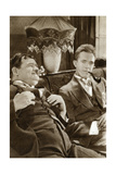 Stan Laurel and Oliver Hardy, American-Based Comedy Duo, 1933 Giclee Print