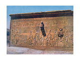 Bas-Relief of Cleopatra, Caesarion, Temple of Hathor, Dendara in Egypt, 20th Century Giclee Print
