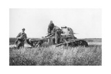 A Broken Down French Light Tank, Villers-Cotterets, Aisne, France, 1918 Giclee Print