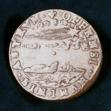 Obverse of a Medal Commemorating the Bright Comet of 1577 Photographic Print