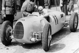 Ernst Von Delius in Auto Union Car, 1936 Photographic Print