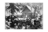 Parliament at Hongo, Florida, Solomon Island, 1892 Giclee Print