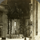 The Great Altar with its Baldachin, St Peter's Basilica, Rome, Italy Photographic Print by  Underwood & Underwood