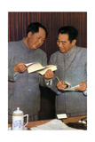 Mao Zedong and Zhou Enlai, Chinese Communist Leaders, C1950S Giclee Print