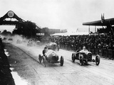 Competitors in the French Grand Prix, Strasbourg, 1922 Photographic Print