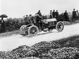 Mercedes 60 Hp Climbing a Hill on the Paris-Madrid Race, 1903 Photographic Print