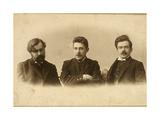 Georgy Chulkov, Vasili Milioti and Genrich Tasteven, Russian Writers, 1900s Giclee Print