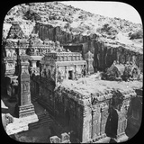 Caves of Ellora, Maharashtra, India, Late 19th or Early 20th Century Photographic Print