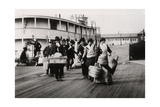Immigrants to the USA Landing at Ellis Island, New York, C1900 Giclee Print