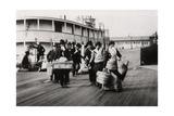 Immigrants to the USA Landing at Ellis Island, New York, C1900 Giclee Print