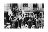 Anxious Crowds Outside the White Star Line Office, 1912 Giclee Print