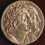 Coin of Ptolemy I and Berenice I, Ptolemaic Kingdom of Egypt, 3rd Century Bc Photographic Print