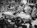 G Marzotto in a 4.1 Ferrari, Taking Part in the Mille Miglia, 1953 Fotografisk tryk