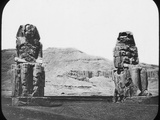 Colossi of Memnon, Luxor (Thebe), Egypt, C1890 Photographic Print