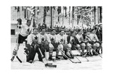 Canadian Ice Hockey Team, Winter Olympic Games, Garmisch-Partenkirchen, Germany, 1936 Impression giclée