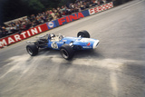 Jean-Pierre Beltoise Driving a Matra, Belgian Grand Prix, Spa-Francorchamps, 1968 Fotografisk tryk