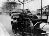 Lord Northcliffe at the Wheel of a 1908 135 Hp Mercedes, (C1908) Photographic Print