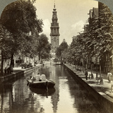 Canal, Amsterdam, Netherlands Photographic Print by  Underwood & Underwood