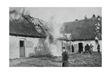 French Soldiers Fight a Fire Started by German Incendiary Bombs, Artois, World War I, 1915 Giclee Print
