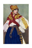 Peasant Woman in National Dress, Czechoslovakia, 1922 Giclee Print