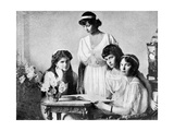 Russian Royal Ladies, Tsarkoe Military Hospital, 1914 Giclee Print