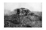 A Tank in Action on the Western Front, Somme, France, First World War, 1914-1918 Giclee Print
