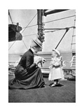 Princess Victoria (1868-193) with Prince Olav of Norway (1903-199), 1908 Giclee Print