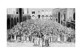 A Congregation Faces the Holy Kaaba in Mecca's Mosque, Saudi Arabia, 1922 Giclee Print