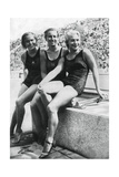 Medallists from the Women's Platform Diving Event, Berlin Olympics, 1936 Giclee Print