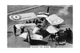 Hawker Osprey on the Deck of the Aircraft Carrier HMS Eagle, 1937 Giclee Print