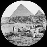 The Great Pyramids, Giza, Egypt, C1890 Photographic Print by  Newton & Co