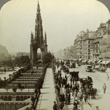 Princes Street and the Scott Monument, Edinburgh, Scotland, C Late 19th Century Photographic Print by  Underwood & Underwood