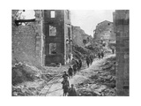 American Soldiers Passing Through the Ruins of Varennes, Meuse-Argonne Offensive, France, 1918 Giclee Print