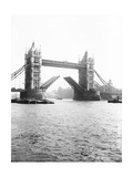 Tower Bridge with Bascules Open, London, C1905 Photographic Print