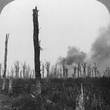 High Explosive Shells Bursting in Mametz Wood, France, World War I, 1916 Photographic Print