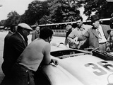 Alfred Neubauer with a Mercedes, Avus Motor Racing Circuit, Berlin, Germany, 1938 Photographic Print
