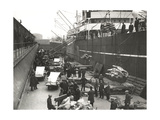 Cargo Being Loaded or Unloaded from a Ship, Royal Victoria Dock, Canning Town, London, C1930 Giclee Print