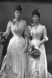The Princesses Victoria (1868-193) and Maud (1869-193) of Wales, 1890 Photographic Print by W&d Downey