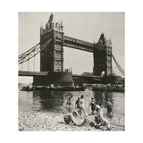 View of the West Side of Tower Bridge, London, C1950 Photographic Print
