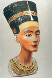 Bust of Nefertiti, Queen and Wife of the Ancient Egyptian Pharaoh Akhenaten (Amenhotep I) Photographic Print