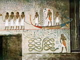 Boat Scene, Tombs of the Nobles, Thebes, Egypt Photographic Print