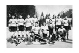Great Britain Ice Hockey Team, Winter Olympic Games, Garmisch-Partenkirchen, Germany, 1936 Giclee Print