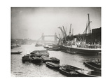 View of the Busy Thames Looking Towards Tower Bridge, London, C1920 Photographic Print