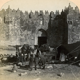 The Damascus Gate, the Nothern Entrance to Jerusalem, Palestine, 1899 Photographic Print